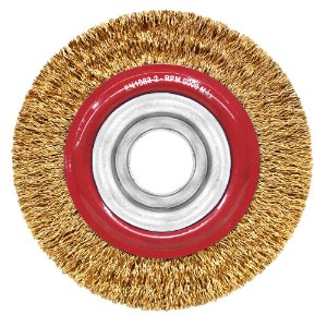 Caixa com 20 Escova de Aço Circular Ondulado Latonado 152,4 x 19 mm