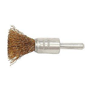 Caixa com 10 Escova de Aço Pincel Profissional com Haste de 17 mm 0,30 mm