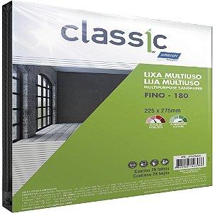 Caixa com 100 Folha de Lixa Multiuso Grão 180 225 x 275 mm