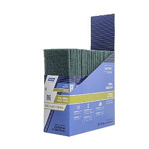 Folha Fibra Abrasiva Pós Obra Verde 240 x 130 mm Caixa com 24