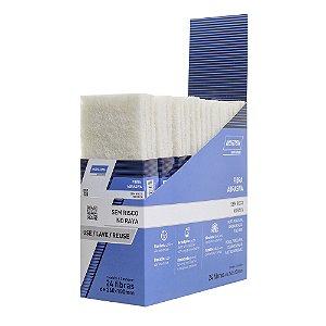Folha Fibra Abrasiva Sem Risco Branca 240 x 130 mm Caixa com 24