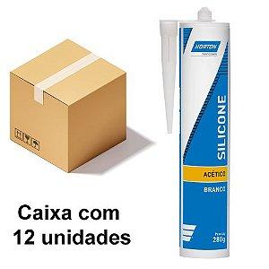 Caixa com 12 Silicone Acético Branco 280 g