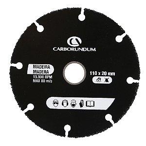 Caixa com 10 Disco de Corte Madeira Segmentado - 110 x 1 x 20 mm