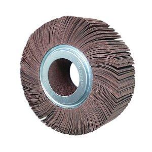 Roda de Lixa Flap PG Polikontour PK KA169 Óxido de Alumínio Grão 180 - 50 x 150 mm