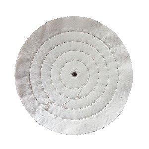 Disco de Polimento Costurado Algodão Puro - 200 mm