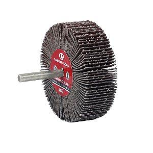 Roda de Lixa Flap PG Mini Kontour MK com Haste CARBO Grão 80 75 x 25 mm