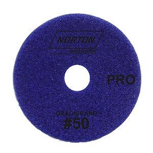 Caixa com 10 Disco de Lixa Diamantada Flexível Brilho D'Água Norton  PRO Grão 50 - 100 x 20 mm