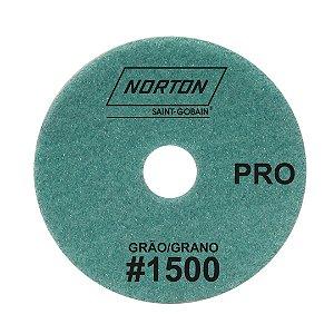 Caixa com 10 Disco de Lixa Diamantada Flexível Brilho D'Água Norton  PRO Grão 1500 - 100 x 20 mm