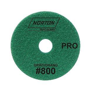 Disco de Lixa Diamantada Flexível Brilho D'Água Norton  PRO Grão 800 - 100 x 20 mm