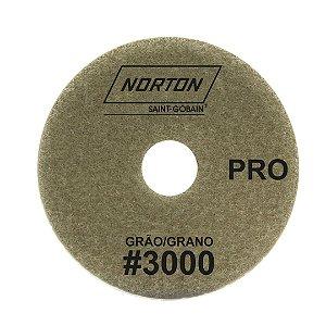 Disco de Lixa Diamantada Flexível Brilho D'Água Norton  PRO Grão 3000 - 100 x 20 mm