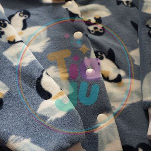 Pijama infantil Pinguim Azul
