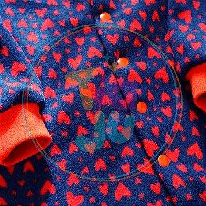 Pijama infantil Corações vermelhos