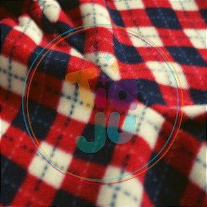 Pijama infantil Microsoft Argyle vermelho