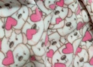 Pijama infantil ursinhos rosa