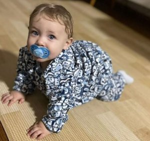 Pijama infantil Selva azul