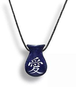Aromatizador Pessoal - Cuia Azul - Símbolo Amor