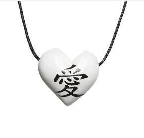 Aromatizador Pessoal - Coração Branco - Símbolo Amor