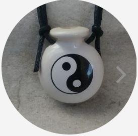 Aromatizador Pessoal - Cantil Branco - Símbolo Yin Yang