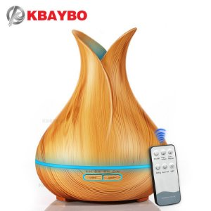 Difusor/Umidificador Ultrassônico Light Wood - Kbaybo - 400ml