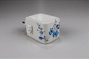 Aromatizador Elétrico de Cerâmica - Flor Azul - Mística
