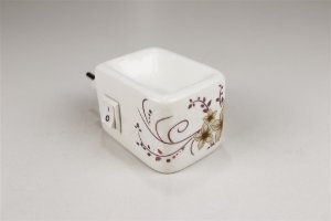 Aromatizador Elétrico de Cerâmica - Flor Dourada - Mística