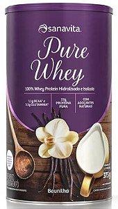 Pure whey Sanavita sabor baunilha 375 g