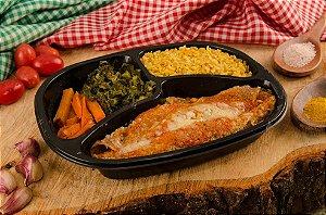 Panqueca integral de Brócolis com Queijo, Cenoura e arroz integral 390g