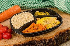 Frango Cremoso, cenoura, abobrinha e arroz integral 390g