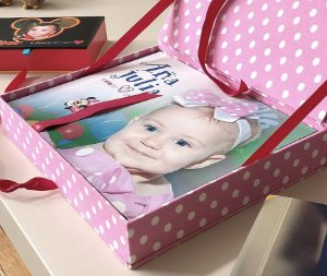 Caixa box 20x25 Minnie rosa