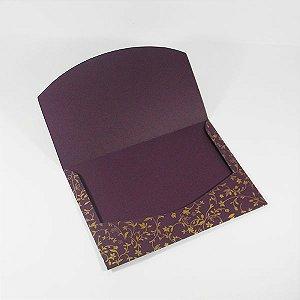 Envelope Roxo com estampa dourada 03 Mod.EN1700 - 15x21cm