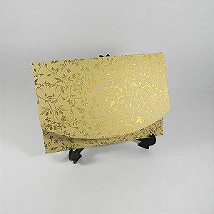 Envelope Bege com estampa dourada 03 Mod.EN1700 - 15x21cm
