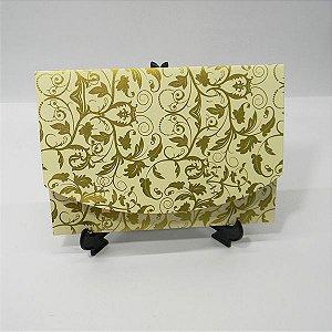 Envelope Marfim com estampa dourada 01 Mod.EN1700 - 15x21cm