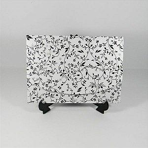 Envelope Branco Pérola com floral preto 03 Mod.EN1700 - 15x21cm