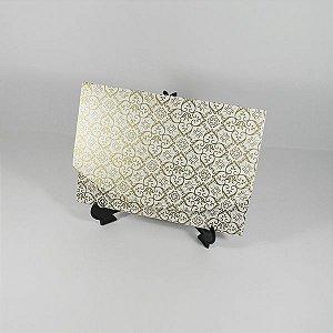 Envelope Pérola com Adamascado dourado Mod.EN1700 - 15x21cm