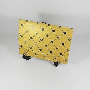 Envelope Dourado com estampa de coroas Mod.EN1700 - 15x21cm