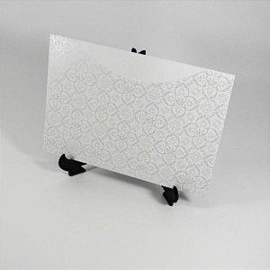 Envelope Branco com estampa adamascada perola Mod.EN1500 - 15,5x21cm