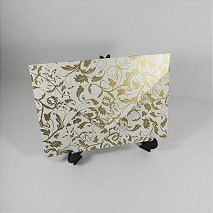 Envelope Pérola com estampa dourada 01 Mod.EN3100 - 15x21,5cm