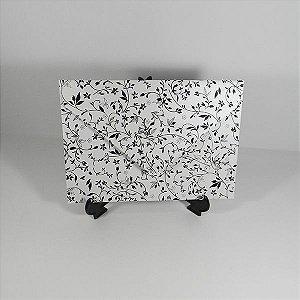 Envelope Branco Perolado com estampa Preta 03 Mod.EN3100 - 15x21cm