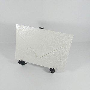 Envelope Perola com estampa branca 01 Mod.EN3100 - 15x21cm