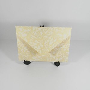 Envelope Champanhe com estampa branca 01 Mod.EN3100 - 15x21,5cm