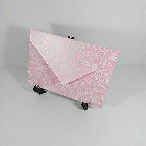 Envelope Rosa perolado com estampa branca 01 Mod.EN3100 - 15x21,5cm