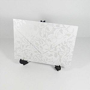 Envelope Branco com estampa perola 01 Mod.EN3100 - 15x21,5cm