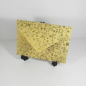 Envelope Bege com estampa dourada 03 Mod.EN3100 - 15x21cm