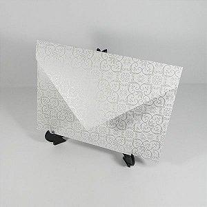 Envelope branco com adamascado  perola Mod.EN3100 - 15x21cm