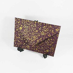 Envelope roxo com adamascado dourado Mod.EN3100 - 15x21,5cm