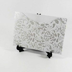 Envelope Branco com estampa pérola 01 Mod.EN1500 - 15,5x21cm