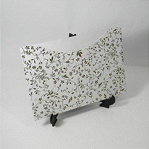 Envelope Branco com Floral Dourado Mod.EN1500 - 15,5x21cm