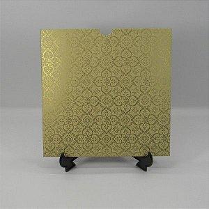 Envelope Bege com Adamascado Dourado Mod.EN2100 - 20x20cm