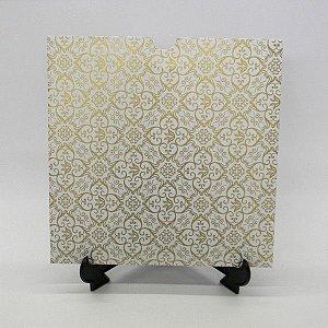 Envelope Branco com Adamascado Dourado Mod.EN2100 - 20x20cm
