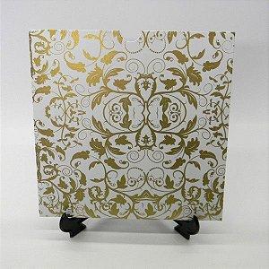 Envelope Branco com Dourado 01 Mod.EN2100 - 20x20cm